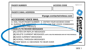 voicemail review messages